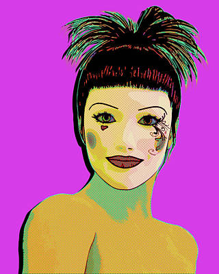 Digital Art - Pretty Woman Pop Art by Anthony Murphy