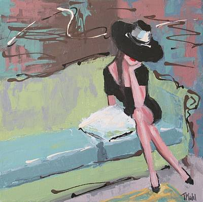 Woman Painting - Pretty Woman by Thalia Kahl