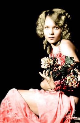 Photograph - Pretty Ziegfeld Model By Alfred Cheney Johnston by R Muirhead Art