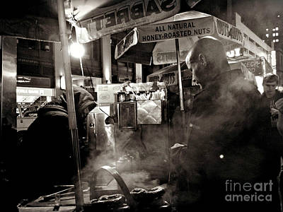 Photograph - Pretzel Vendor - New York by Miriam Danar