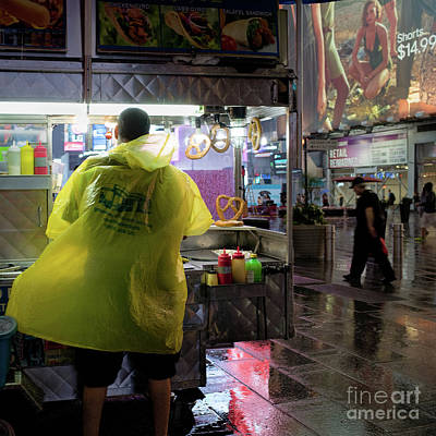 Photograph - Pretzel Vendor, Times Square, New York City #130538 by John Bald