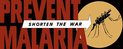 Prevent Malaria - Shorten The War  Art Print by War Is Hell Store
