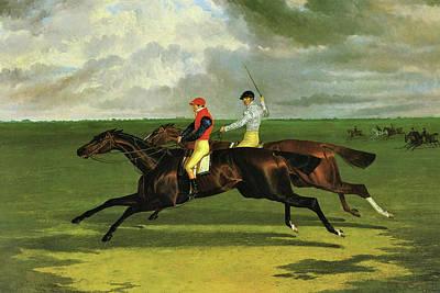 'priam' Beating Lord Exeter's 'augustus' At Newmarket, 1831, John Frederick Herring Art Print