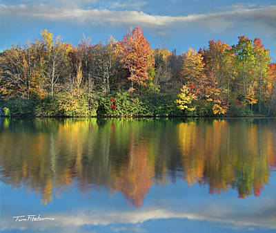 Photograph - Price Lake, Blue Ridge Parkway, North Carolina by Tim Fitzharris