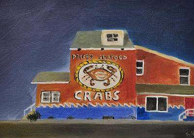 Tim Painting - Price's Seafood by Tim Webster