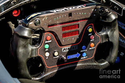 Indycar Photograph - Pricey Steering Wheel by Webb Canepa