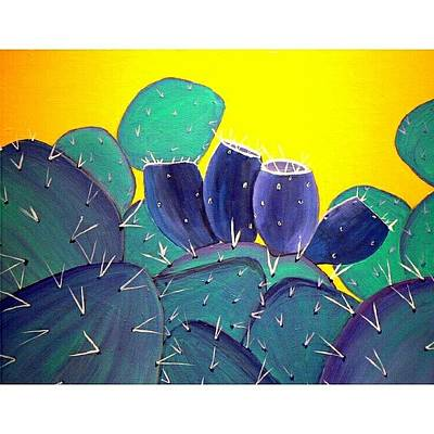 Desert Photograph - Prickley Pear With by Karyn Robinson