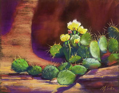 Painting - Pricklies On A Ledge by Marjie Eakin-Petty