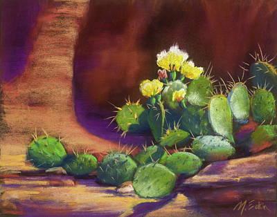Painting - Pricklies On A Ledge by Marjie Eakin-Petty