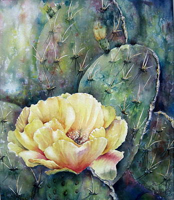 Painting - Prickly Blossom by Mary McCullah