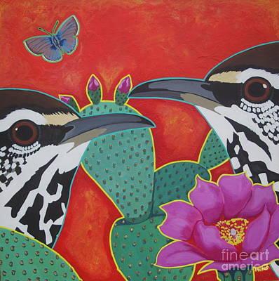 Wren Digital Art - Prickly Pair by LWren Walraven