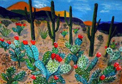 Prickly Pear Cactus Tucson Art Print
