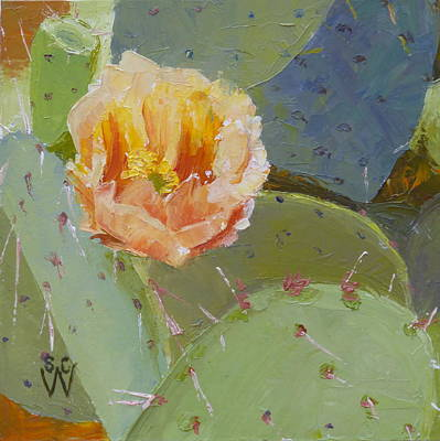 Painting - Prickly Pear Blossom by Susan Woodward