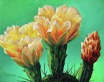 Painting - Prickly Pear Buds by Cheryl Fecht