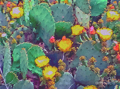 Prickly Pear Painting - Prickly Pear Cactus 2 by Methune Hively