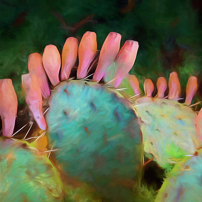 Painting - Prickly Pear Cactus by Ann Powell