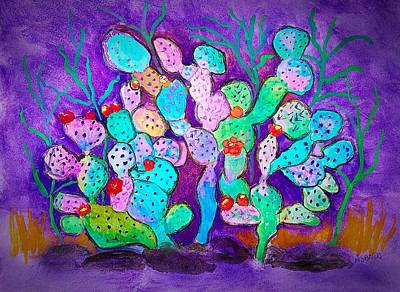 Painting - prickly Pear Cactus by Anne Sands