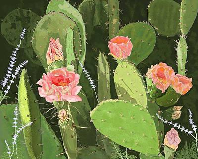 Prickly Pear Art Print by Carole Boyd