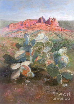 Painting - Prickly Pear In Sedona, Arizona by Nancy Lee Moran