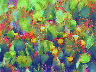 Painting - Prickly Pear Painting by Methune Hively
