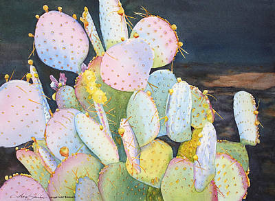 Prickly Pear Painting - Prickly Pear Pals by Tina Sander