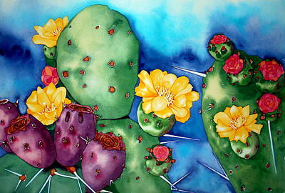 Prickly Pear Party Original by Margaret Elizabeth Johnston ND