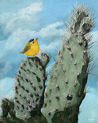 Painting - Prickly View - Wildlife Painting by Linda Apple