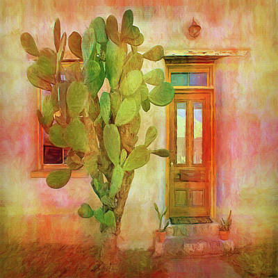 Photograph - Prickly Welcome - Cactus - Door by Nikolyn McDonald