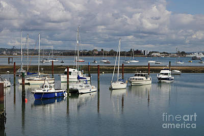 Photograph - Priddy's Hard Marina by Julia Gavin