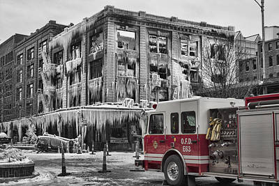 Photograph - Pride, Commitment, And Service -after The Fire by Jeff Swanson