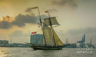Photograph - Pride Of Baltimore Sailing Into Charleston Waters by Dale Powell