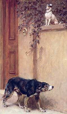 Pooch Painting - Pride Of Place by Briton Riviere