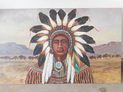 Lynn Burton Wall Art - Painting - Pride Of The Plains by Lynn Burton