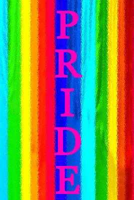 Pride Painting - Pride Pink Vertical by David Lee Thompson