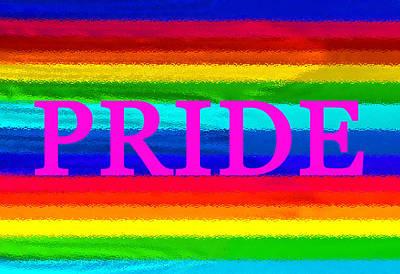 Pride Painting - Pride Pink Work A by David Lee Thompson