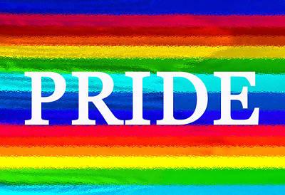 Pride Painting - Pride White  by David Lee Thompson
