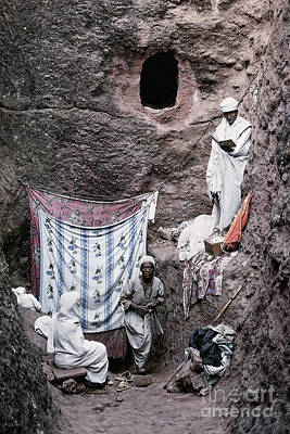 Impressionist Landscapes - Priest At Ancient Christian Orthodox Church In Lalibela Ethiopia by JM Travel Photography