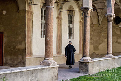 Photograph - Priest In Italian Convent by Patricia Hofmeester