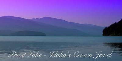 Photograph - Priest Lake - Idaho's Crown Jewel by David Patterson