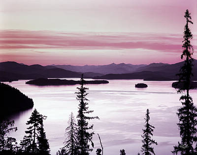 Restful Photograph - Priest Lake by Leland D Howard