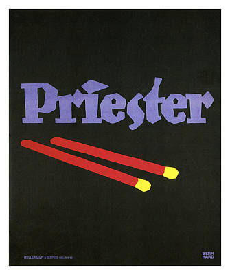 Mixed Media - Priester - Matches - Vintage Advertising Poster by Studio Grafiikka
