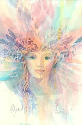 Spririt Painting - Priestess by Carolyn Utigard Thomas
