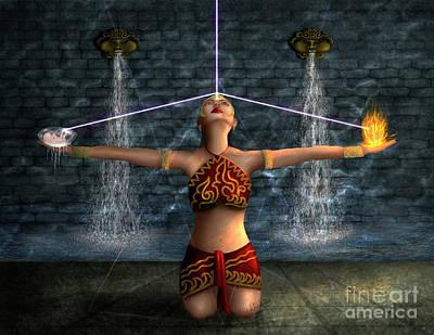 Digital Art - Priestess by Chitra Helkar