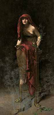 Collier Painting - Priestess Of Delphi by John Collier