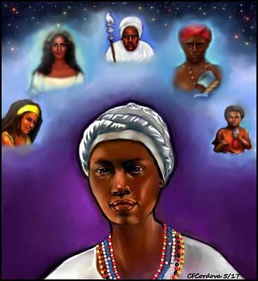 Yemaya Digital Art - Priestess Of Santeria by Carmen Cordova