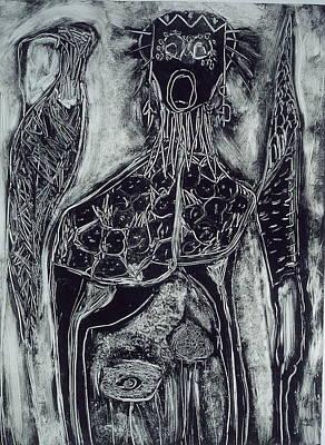Primal Art Print by Angela Dickerson