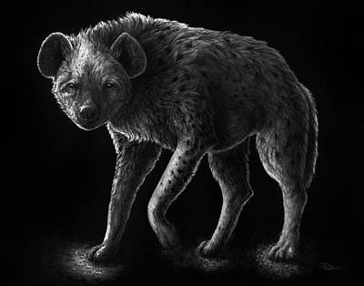 Grayscale Drawing - Primal Endurance by Danielle Trudeau