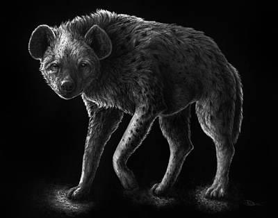 Greyscale Drawing - Primal Endurance by Danielle Trudeau