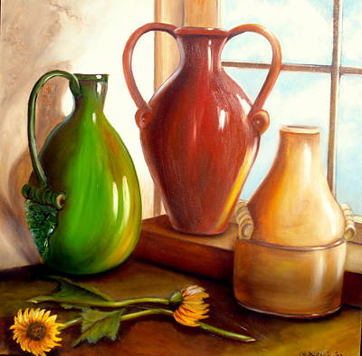 Painting - Primarily Jugs by Susan Dehlinger