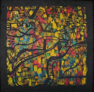 Colourfull Painting - Primary And Secondary Roads Of Unconscious  by Alfonso Robustelli